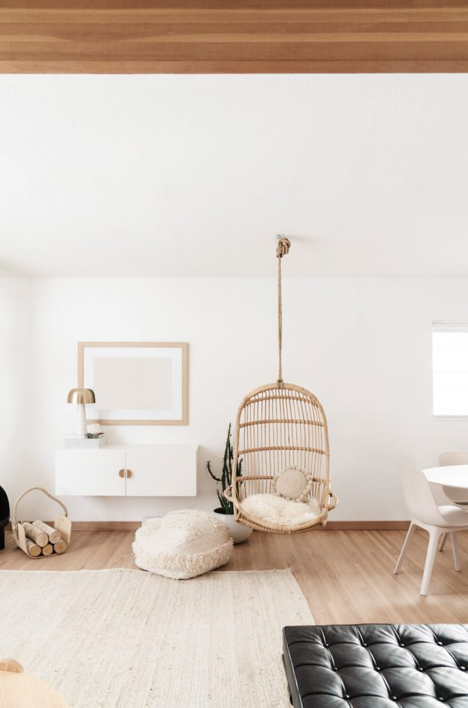 bamboo chair in living room
